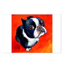 boston terrier 4 Postcards (Package of 8)