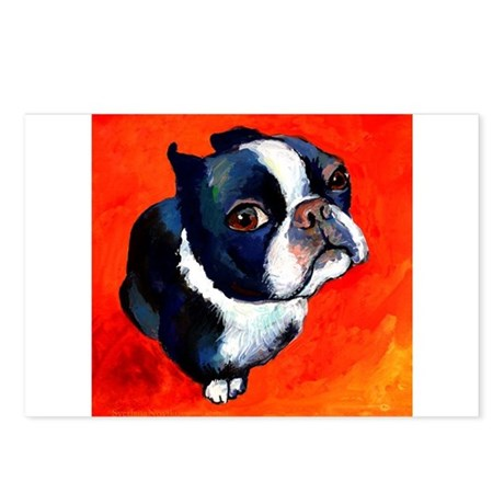 boston terrier 4 Postcards (Package of 8)