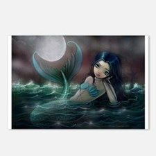 Moonlit Creek Mermaid Fantasy Art Postcards (Packa