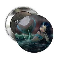 "Moonlit Creek Mermaid Fantasy Art 2.25"" Button (10"