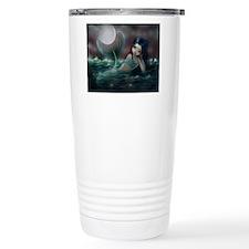Moonlit Creek Mermaid Fantasy Art Travel Mug