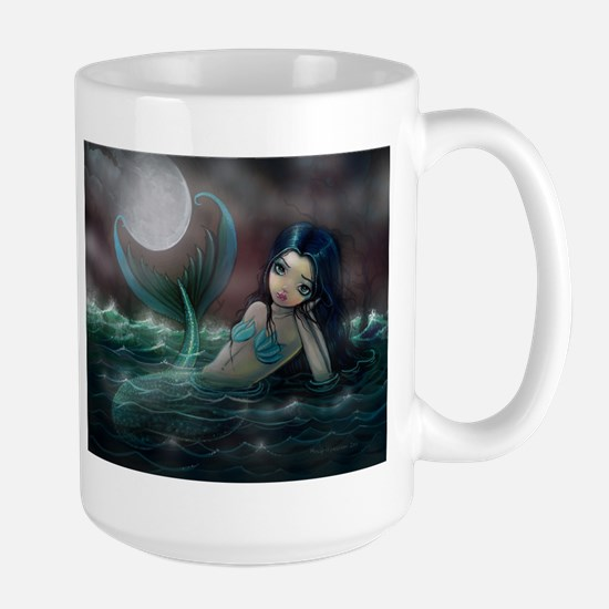 Moonlit Creek Mermaid Fantasy Art Mugs