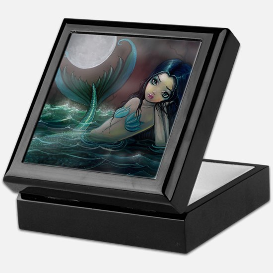 Moonlit Creek Mermaid Fantasy Art Keepsake Box
