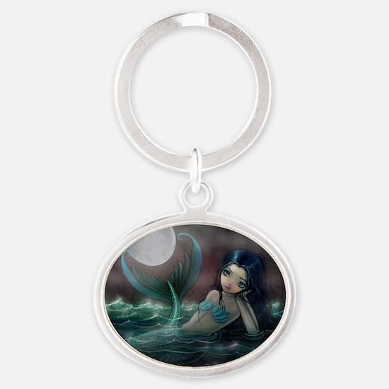 Moonlit Creek Mermaid Fantasy Art Keychains