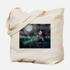 Moonlit Creek Mermaid Fantasy Art Tote Bag