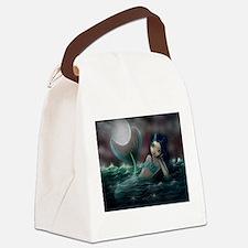 Moonlit Creek Mermaid Fantasy Art Canvas Lunch Bag