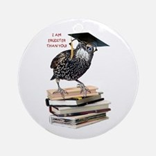 Back to School Starling Ornament (Round)