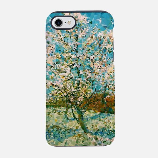 Pink Peach Tree Low Poly iPhone 7 Tough Case