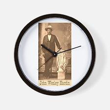 John Wesley Hardin Wall Clock