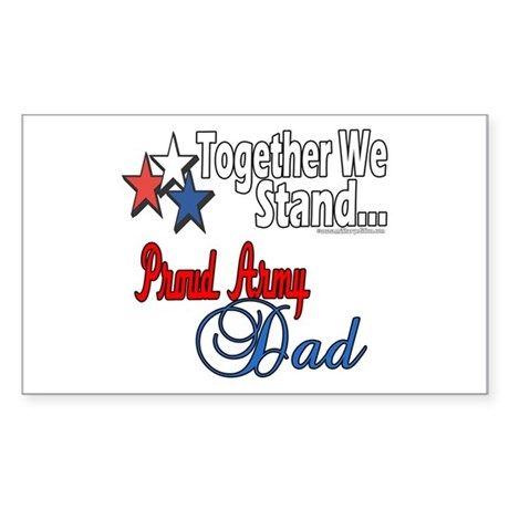 Army Father Rectangle Sticker