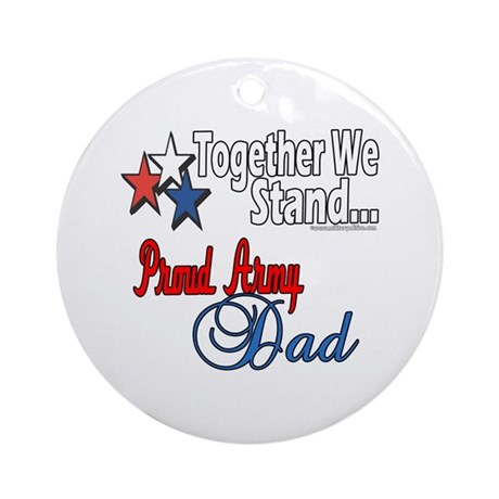 Army Father Ornament (Round)