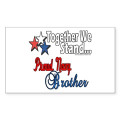 Proud Navy Brother Rectangle Decal