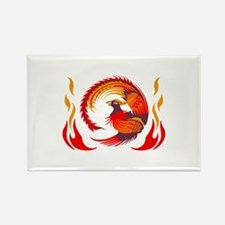 PHOENIX RISING FROM FLAMES Magnets
