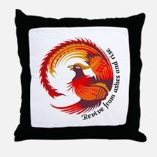 REVIVE FROM ASHES AND RISE Throw Pillow