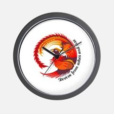 REVIVE FROM ASHES AND RISE Wall Clock