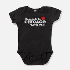 Cute I love chicago Baby Bodysuit
