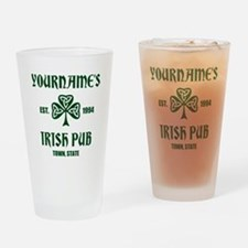 Personalized Irish Pub Drinking Glass