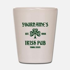 Personalized Irish Pub Shot Glass