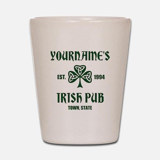 Personalized Irish Pub Shot Glass
