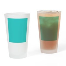 modern abstract teal Drinking Glass