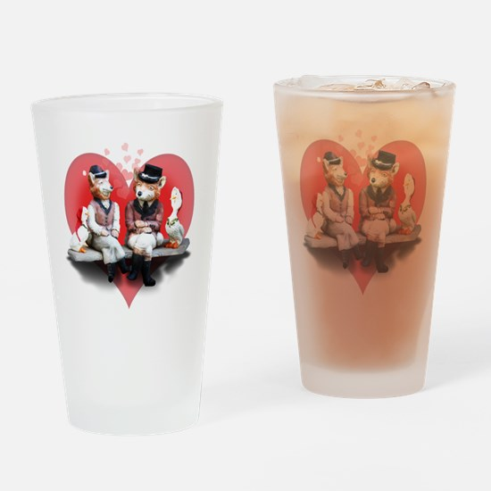 The Foxy Couple Drinking Glass