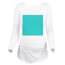 modern abstract teal Long Sleeve Maternity T-Shirt
