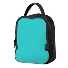 modern abstract teal Neoprene Lunch Bag
