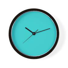 modern abstract teal Wall Clock