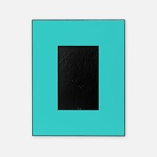 modern abstract teal picture frame