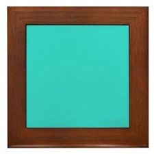 modern abstract teal Framed Tile