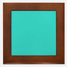 modern abstract teal Framed Tile