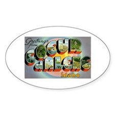 Coeur d'Alene Idaho Oval Decal