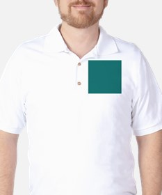 solid color teal Golf Shirt