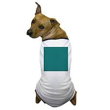 solid color teal Dog T-Shirt