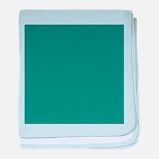 solid color teal baby blanket