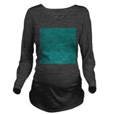 solid color teal Long Sleeve Maternity T-Shirt