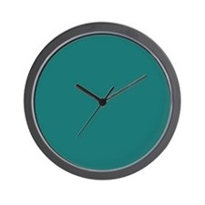 solid color teal Wall Clock