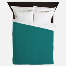 solid color teal Queen Duvet