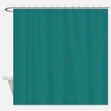 solid color teal Shower Curtain