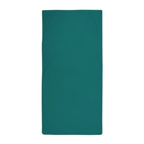 Solid Color Teal Beach Towel By Admin Cp62325139