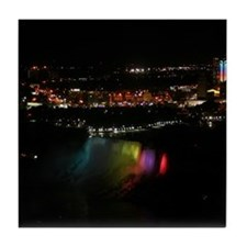 Niagara Falls At Night Tile Coaster