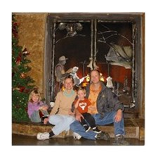 Decamp family at Bass Pro Shops Tile Coaster