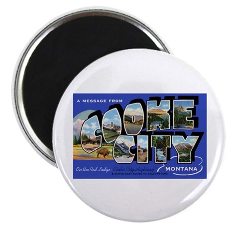 Cooke City Montana Greetings Magnet
