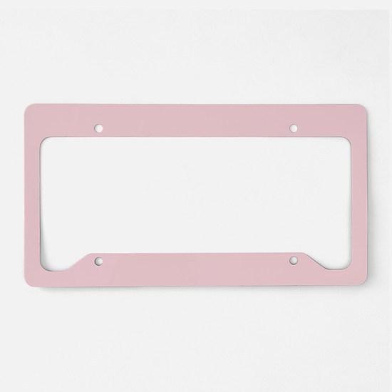 cute blush pink License Plate Holder