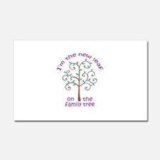 NEW LEAF ON FAMILY TREE Car Magnet 20 x 12