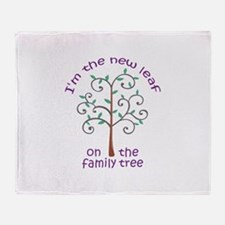 NEW LEAF ON FAMILY TREE Throw Blanket