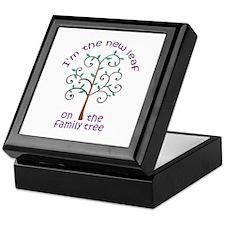NEW LEAF ON FAMILY TREE Keepsake Box
