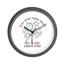 NEW LEAF ON FAMILY TREE Wall Clock