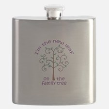NEW LEAF ON FAMILY TREE Flask