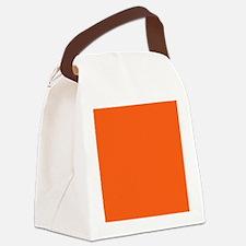 modern plain orange Canvas Lunch Bag